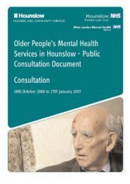Consultation Document - West London Mental Health NHS Trust