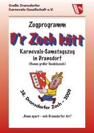 Zugprogramm - Ortsausschuss Bonn-Dransdorf