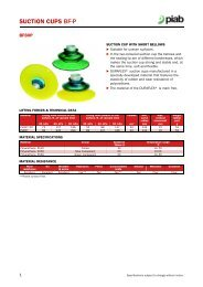 Piab suction cups BF80P data sheet