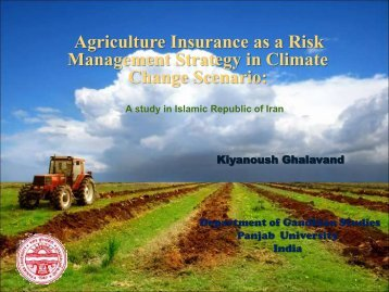 Agriculture Insurance in India: A Study of Jammu and Kashmir