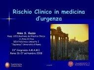 Rischio Clinico in medicina d'urgenza - Amami
