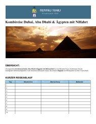 Kombireise Dubai, Abu Dhabi & Ägypten mit Nilfahrt