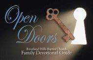 Family Devotional Guide (PDF) - Riverland Hills Baptist Church