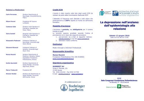 Convegno di Psicogeriatria-c-10 13 04 - Centro per la Diagnosi e la ...