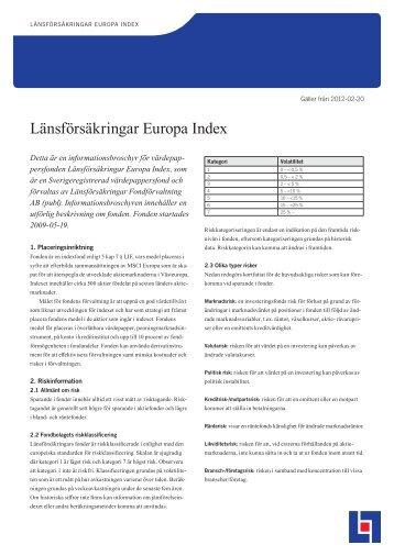 Länsförsäkringar Europa Index