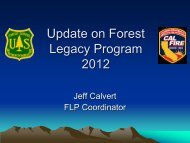 Update on Forest Legacy Program 2012 - Sonoma Land Trust
