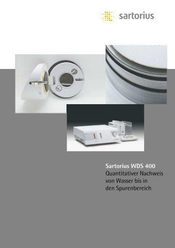 Sartorius WDS 400 Quantitativer Nachweis von Wasser bis in den ...