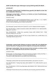 DGAP Veröffentlichungen Volkswagen Leasing GmbH gemäß § 30e ...