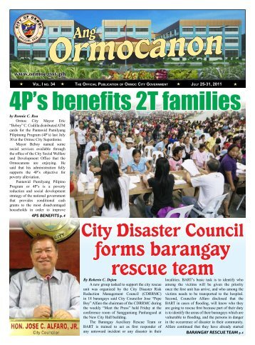 4P's benefits 2T families - City Government of Ormoc