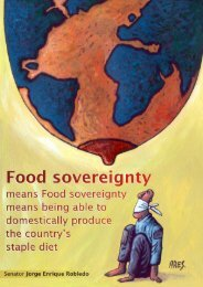 Food sovereignty means being able to domestically ... - Rel-UITA