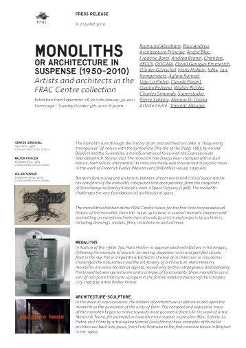 Monoliths - FRAC Centre