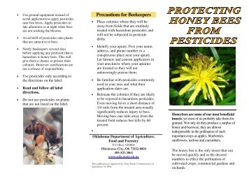Protecting Honey Bees from Pesticides - Oklahoma Department of ...