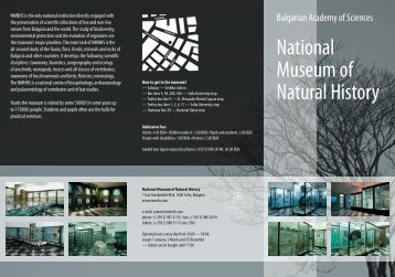 Museum's leaflet - National Museum of Natural History, Sofia ...