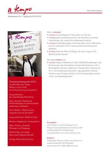 Themenschwerpunkt 2012 - Verlag Freies Geistesleben