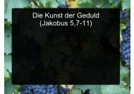 Die Kunst der Geduld (Jakobus 5,7-11) - EFG Hemsbach