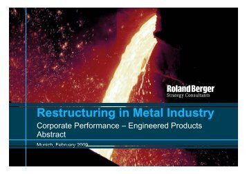 Restructuring in Metal Industry - Abstract (PDF, 218 KB)