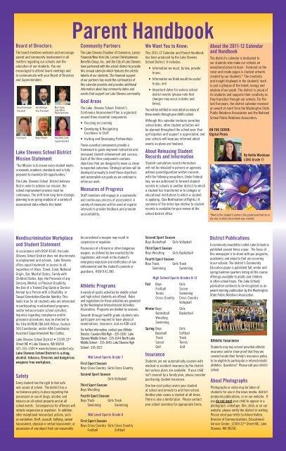 Parent Handbook - Lake Stevens School District #4