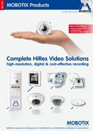 Complete HiRes Video Solutions - Mobotix