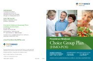 Choice Group Plan - Providence Health Plan - Providence Health ...