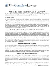 Identity as a Lawyer.. - Dennis Coyne Coaching and Consulting