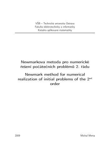 Newmarkova metoda pro numerické řešení počátečních ... - FEI VŠB