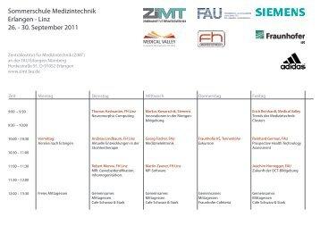 Sommerschule Medizintechnik Erlangen - Zentralinstitut für ...