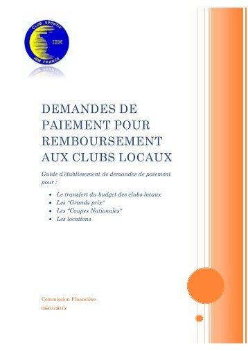 Guide d'établissement de demande de paiement - Club Sportif IBM ...