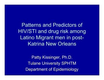 Patterns and Predictors of HIV/STI and drug risk among Latino ...