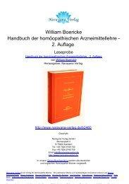 William Boericke Handbuch der homöopathischen Arzneimittellehre