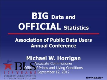 BIG Data and OFFICIAL Statistics - APDU