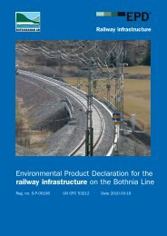 Environmental Product Declaration for the railway infrastructure on ...
