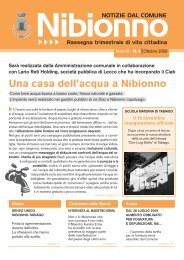ottobre 2009 - Comune di Nibionno