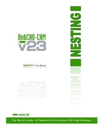 Nesting Manual - BobCAD-CAM