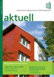 Modernisierung und - HBH Hanseatische Baugenossenschaft ...