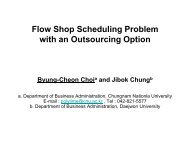 Flow Shop Scheduling Problem with an Outsourcing Option
