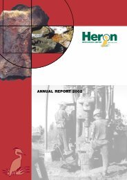 ANNUAL REPORT 2002 - Heron Resources Limited