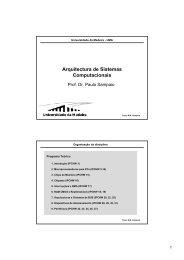 Arquitectura de Sistemas Computacionais - Universidade da Madeira