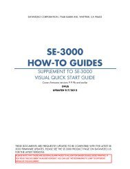 SE-3000 HOW-TO GUIDES - Datavideo