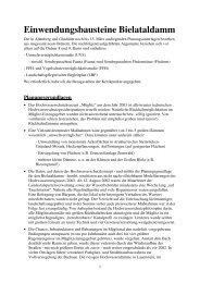 und hier alles zusammen als .pdf - Grüne Liga Osterzgebirge