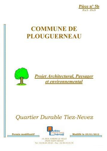 Projet architectural, paysager et environnemental ... - Plouguerneau