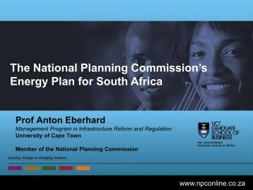The National Planning Commission's Energy Plan for South Africa