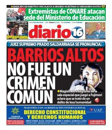 Extremistas de CONARE atacan sede del Ministerio de ... - Diario 16