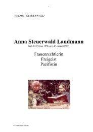 Anna Steuerwald Landmann - Bund für Geistesfreiheit Bayern K.d.ö.R.