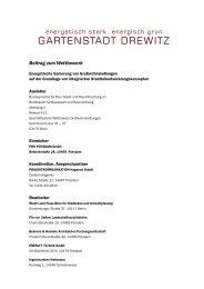 Beitrag zum Wettbewerb - Gartenstadt Drewitz