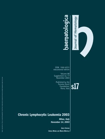 Haematologica 2003;88: supplement no. 17 - Supplements ...