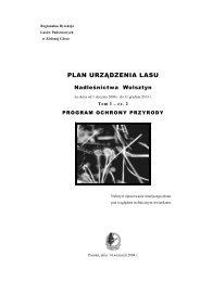 plan urządzenia lasu - Państwowe Gospodarstwo Leśne LASY ...