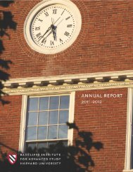 2011–2012 radcliffe institute fellows - Radcliffe Institute for ...