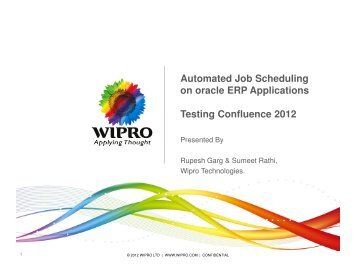 Automated Job Scheduling on oracle ERP Applications ... - QAI