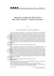 Batraciens et reptiles du Vallon de Nant - Université de Lausanne