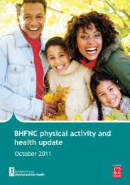 Click here to download the October 2011 physical activity update
